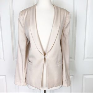 Alice Olivia Blazer Jacket Large Pink Blush Tori